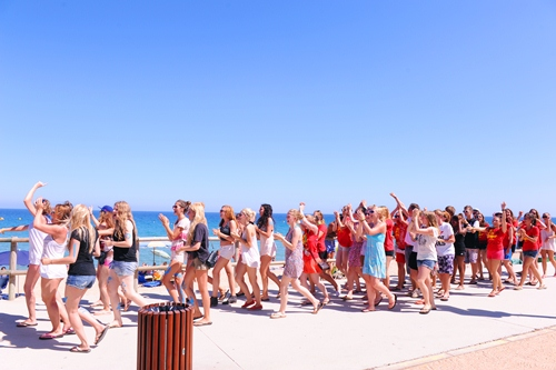 Flashmob in Blanes