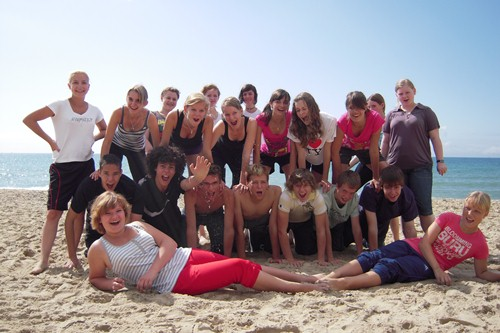 Bournemouth - Gruppenfoto am Strand